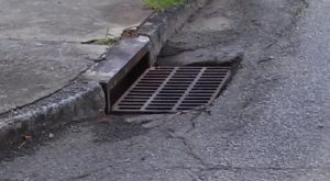 A storm grate in Cordele